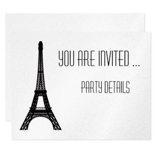 """Torre Eiffel de París Invitación 4.25"""" X 5.5"""""""