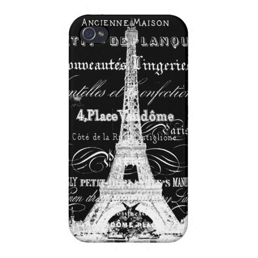 Torre Eiffel de París iPhone 4 Protectores