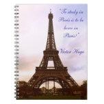 ¡Torre Eiffel de París! Libretas Espirales