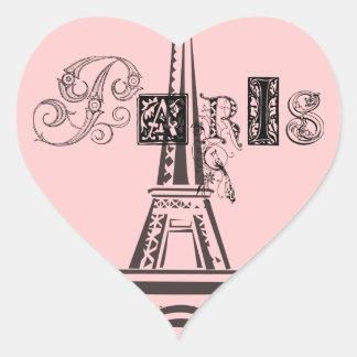 Torre Eiffel de París Pegatina De Corazon Personalizadas