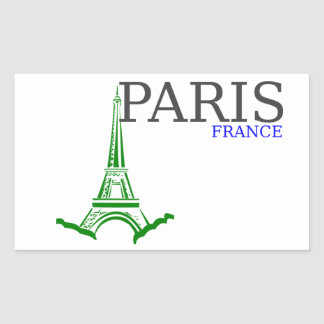 Torre Eiffel de París Pegatina Rectangular
