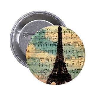 Torre Eiffel de París Pin Redondo De 2 Pulgadas
