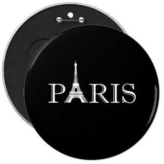 Torre Eiffel de París Pin Redondo De 6 Pulgadas