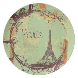 Torre Eiffel de París Plato De Comida