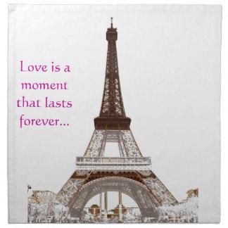Torre Eiffel de París Servilleta De Papel