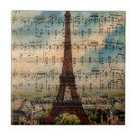 Torre Eiffel de París Teja Ceramica