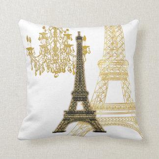 Torre Eiffel de PixDezines/falso color de gold/DIY Cojines