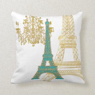 Torre Eiffel de PixDezines/falso color de gold/DIY Cojín Decorativo
