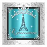 Torre Eiffel de plata azul de la tiara del trullo  Comunicados