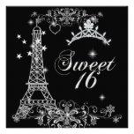 Torre Eiffel de plata negra del brillo 16 del dulc Comunicado Personal