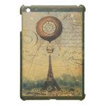 Torre Eiffel de Steampunk y globo del aire calient