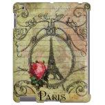 Torre Eiffel de Steampunk y rosa rojo