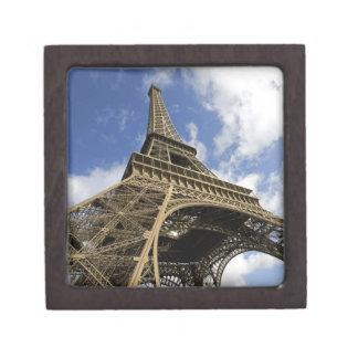 Torre Eiffel del ángulo bajo Caja De Regalo De Calidad