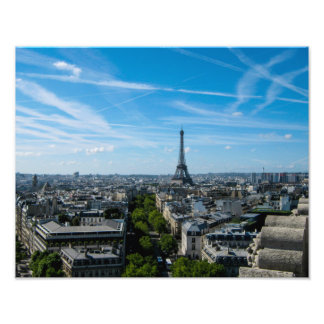 Torre Eiffel del arco du Triomph - impresión de la Fotografías