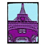 Torre Eiffel del arte pop Tarjetas Postales
