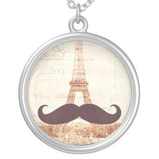 Torre Eiffel del bigote Collares Personalizados