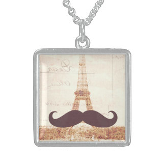 Torre Eiffel del bigote Pendientes