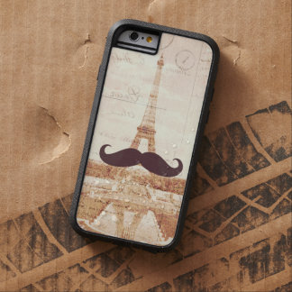 Torre Eiffel del bigote Funda Tough Xtreme iPhone 6