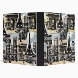 Torre Eiffel del collage del viaje de París del fr