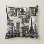 Torre Eiffel del collage del viaje de París del fr Almohadas