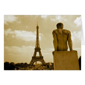 Torre Eiffel del cumpleaños Tarjeta De Felicitación