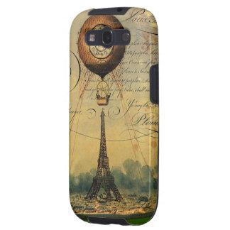 Torre Eiffel del globo del aire caliente de Steamp Galaxy SIII Coberturas