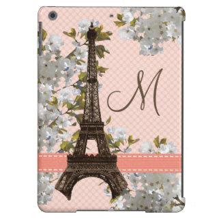 Torre Eiffel del monograma parisiense Carcasa Para iPad Air
