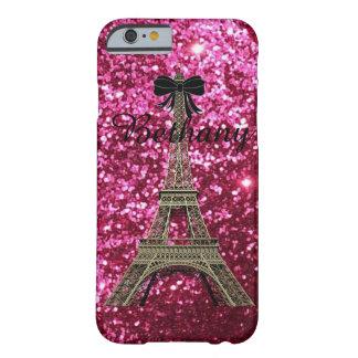 Torre Eiffel del oro en el caso rosado brillante