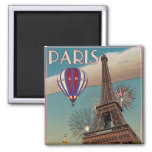 Torre Eiffel del vintage - 18x24 Imán Para Frigorífico