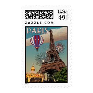 Torre Eiffel del vintage - 18x24 Sello