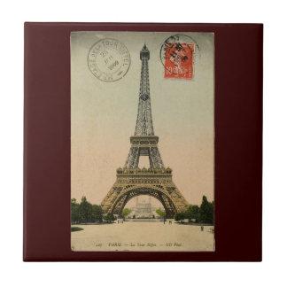 Torre Eiffel del vintage Azulejo Cuadrado Pequeño