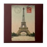Torre Eiffel del vintage Azulejos