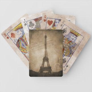 torre Eiffel del vintage Barajas De Cartas