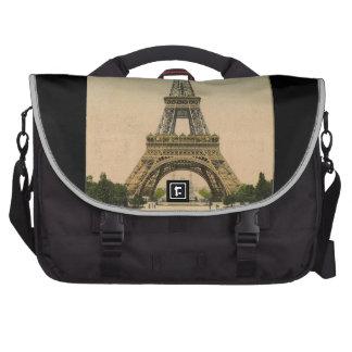 Torre Eiffel del vintage Bolsas Para Portátil