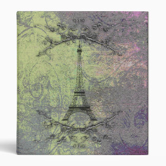 "Torre Eiffel del vintage Carpeta 1"""