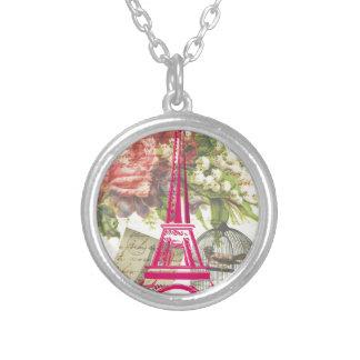 Torre Eiffel del vintage Colgantes Personalizados