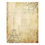 Torre Eiffel del vintage de PixDezines+Remolinos Plantillas De Membrete
