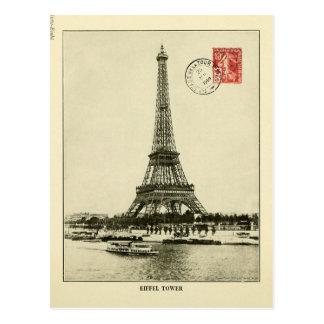 Torre Eiffel del vintage en París Francia Postales