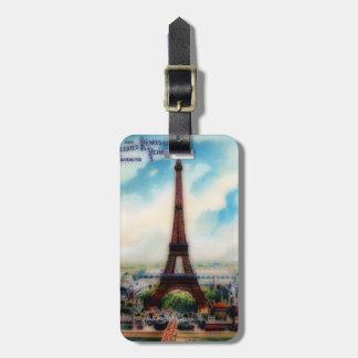 Torre Eiffel del vintage Etiqueta Para Maleta
