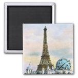 Torre Eiffel del vintage Imán De Nevera