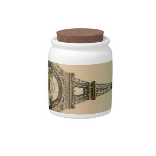 Torre Eiffel del vintage Jarra Para Caramelo