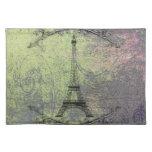 Torre Eiffel del vintage Manteles Individuales