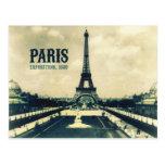 Torre Eiffel del vintage, París, 1889 Tarjeta Postal
