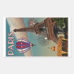 Torre Eiffel del vintage Pegatina Rectangular