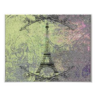 Torre Eiffel del vintage Impresiones Fotograficas