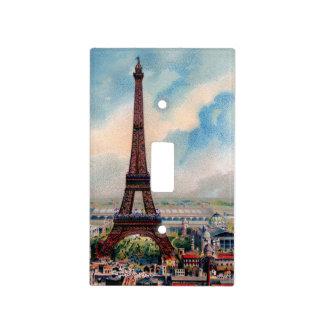 Torre Eiffel del vintage Placas Para Interruptor
