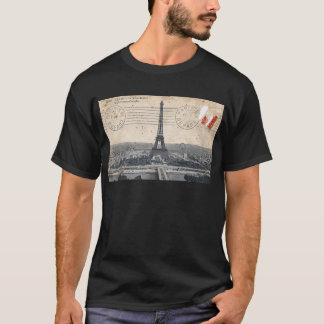 Torre Eiffel del vintage Playera