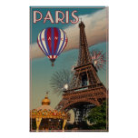 Torre Eiffel del vintage Poster