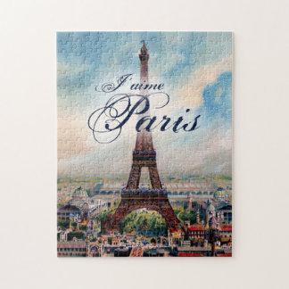 Torre Eiffel del vintage Puzzles