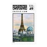 Torre Eiffel del vintage Sello